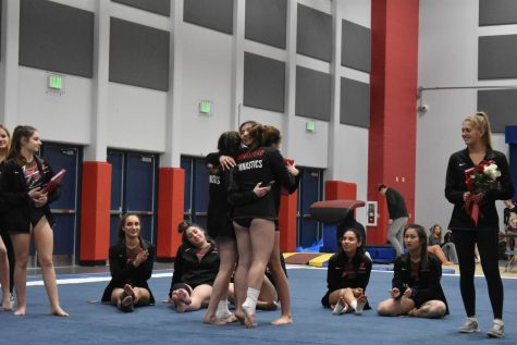 Seniors honored at gymnastics senior night