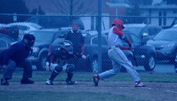 Will Vierling steps up to the plate at a Homestead varsity baseball game.
