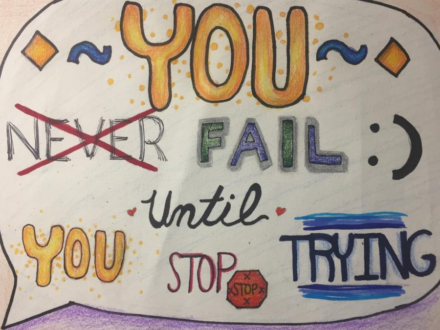 The+motivational+poster+was+created+by+art+student+Shelly+Chang.