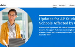The College Board posts updates on its website to keep students and teachers informed.