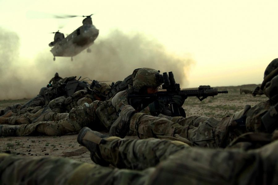 Members of the 75th Ranger Regiment wait for extraction.