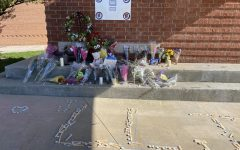 The growing memorial sits outside on the Highlander Walkway for students to remember Jacob Howard.