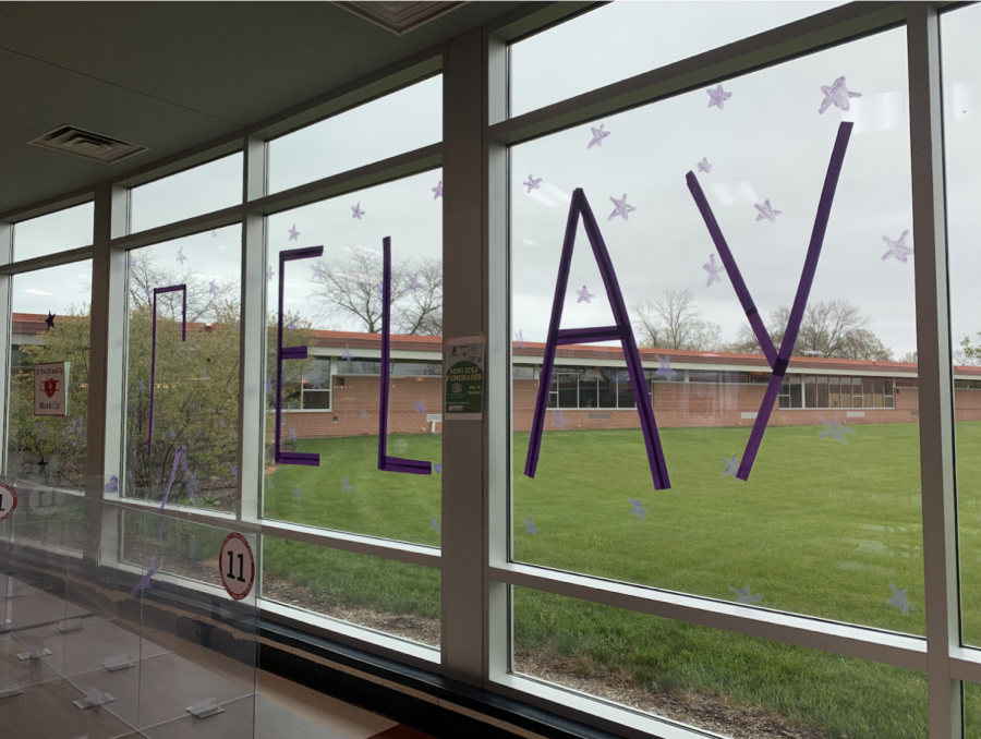 Purple decorations gave Homestead a pop of color this week in anticipation of Relay for Life.