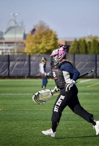Emma Beaulieu, sophomore, participates in lacrosse, a passion of hers.