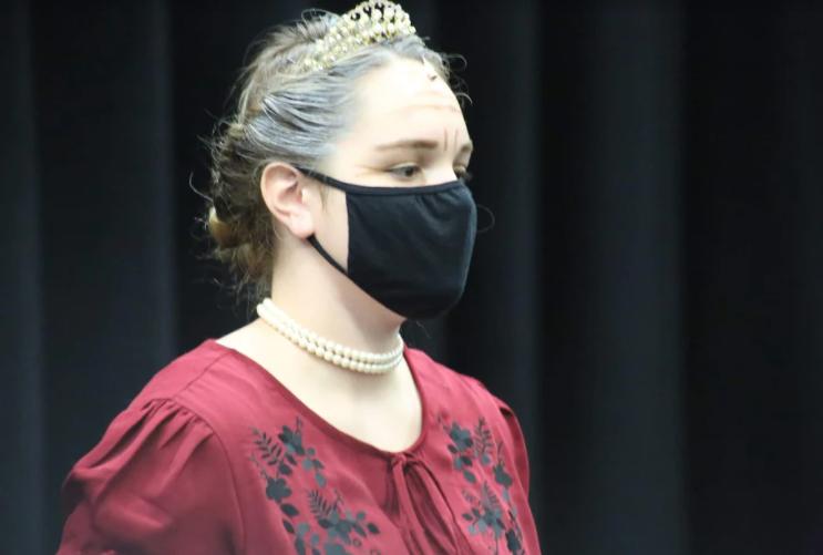Alexandra Berryman participates in a production.
