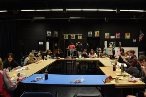 The Drama Club begins play rehearsal in the Black Box. Photo by Olivia Cagle
